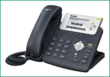 טלפון ip yealink  T22P